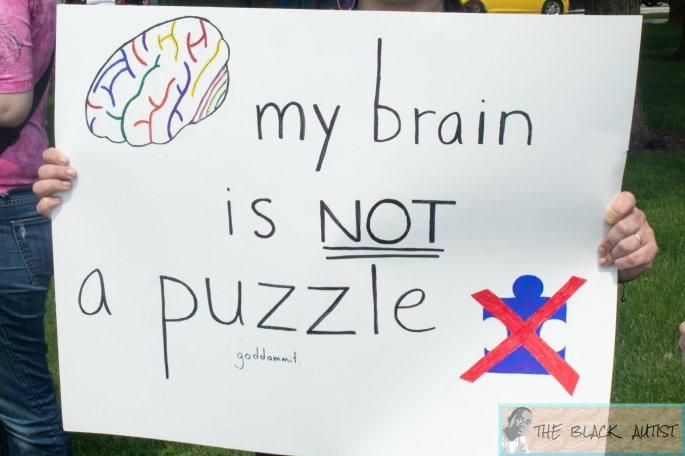 Protest of one of [Autism Speaks'] Walks
