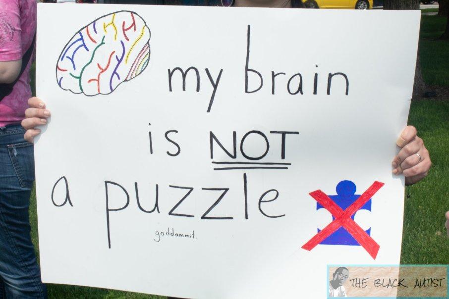 Protest of one of [Autism Speaks'] Walks